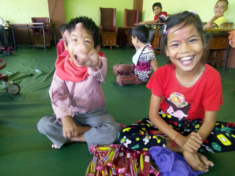 The children suffering from Cerebral Palsy